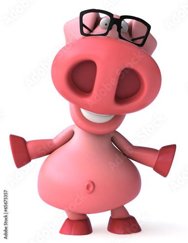 In de dag Boerderij Pig