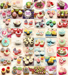 Fototapeta Collage de cupcakes