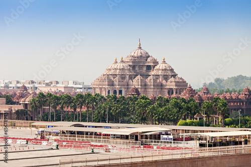 Stickers pour porte Delhi Akshardham temple