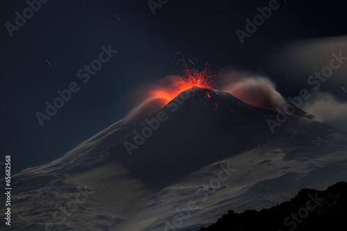 Poster Volcano Eruption volcano Etna