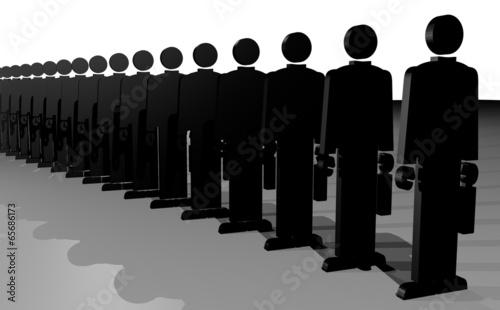 Valokuva  Many business puppets