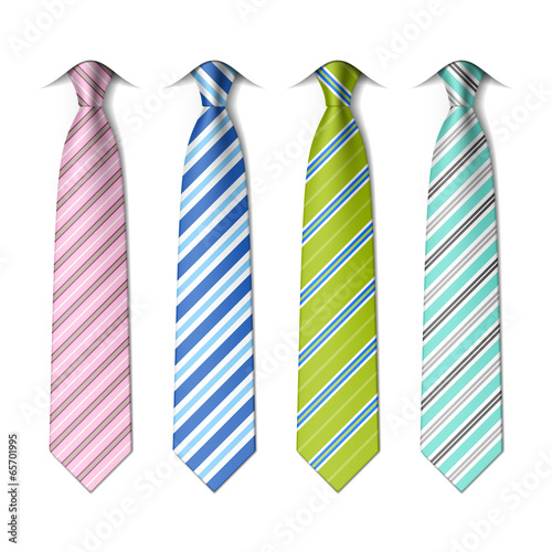 Fotografie, Obraz  Striped ties template