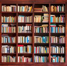 Bookshelf Full With Books