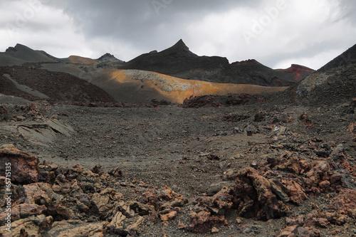 Volcanic landscape around Volcano Sierra Negra