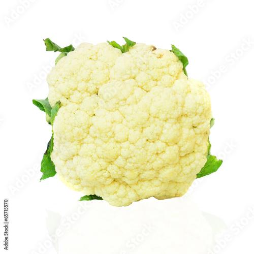 Fotografie, Obraz  Cauliflower isolated on white background