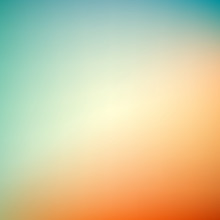Abstract Blurry Background, Blue - Orange