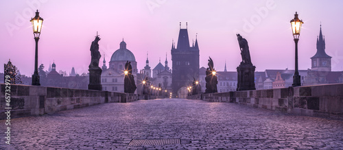 Photo sur Toile Prague Karlov Bridge