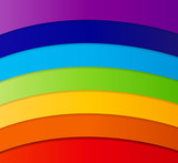 Rainbow Abstract Background Vector Illustration