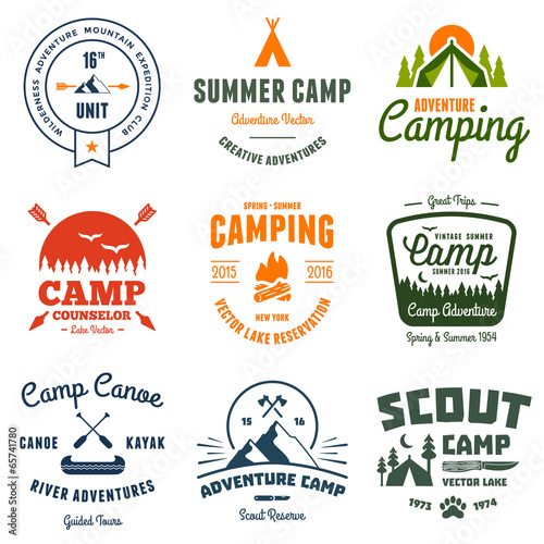 Vintage camp graphics Fototapet