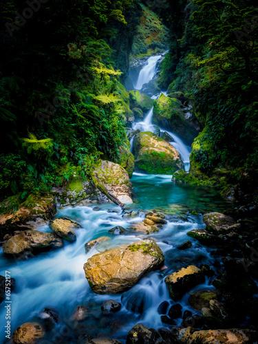 Mackay Falls in Milford track, New Zealand © kantae