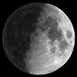 Fototapeta Młodzieżowe - Half Moon with sharp details.
