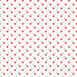 seamless pattern with dots and cherries
