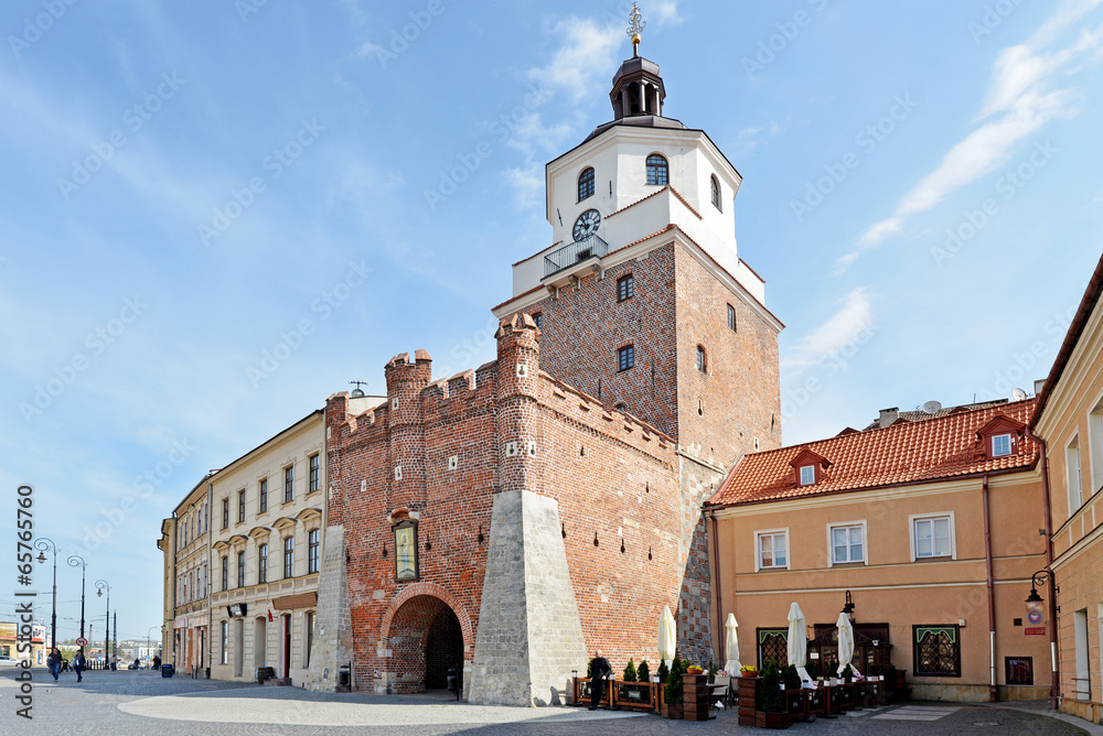 Fototapeta Cracow Gate in Lublin