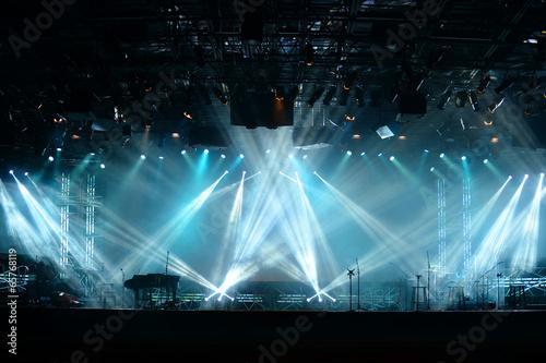 Leinwand Poster Lichter auf der Bühne