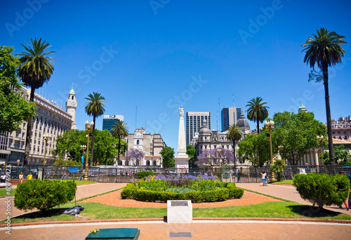 Photo sur Toile Buenos Aires Beuatiful view of Buenos Aires capital of Argentina