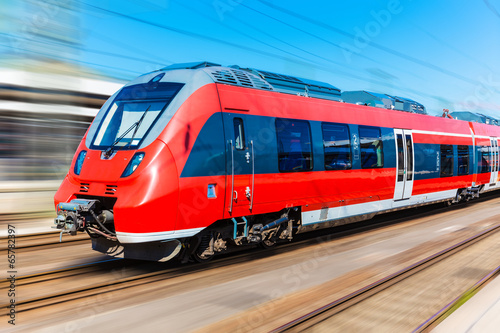 Canvas Print Modern high speed train