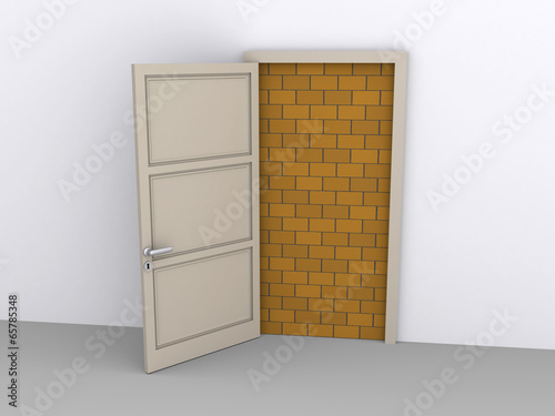 Photo  Blocked doorway