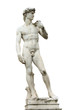canvas print picture - Statue of Michelangelo's David front of the museum Palazzo Vecch