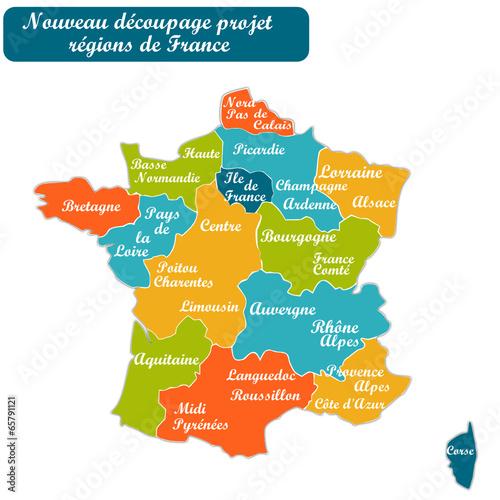 nouvelle carte des regions Nouvelle carte des régions de France Projet   Buy this stock