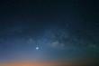 Landscape of Milky Way beautiful sky