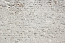 White Grunge Brick Wall Backgr...