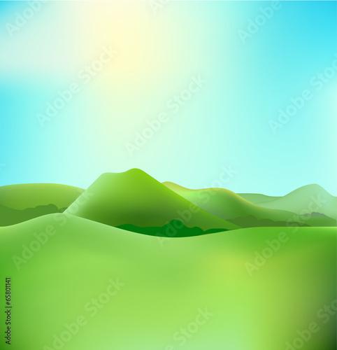 Foto op Plexiglas Groene countryside landscape vector