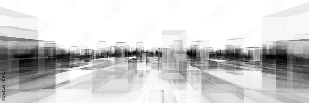 Fototapeta abstract blocks city