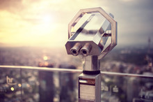 Binoculars Or Telescope On Top...