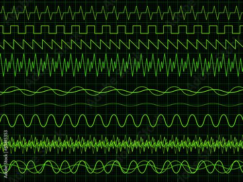 Fotografie, Obraz  Oscilloscope Waves