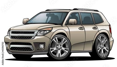Staande foto Cartoon cars SUV 01