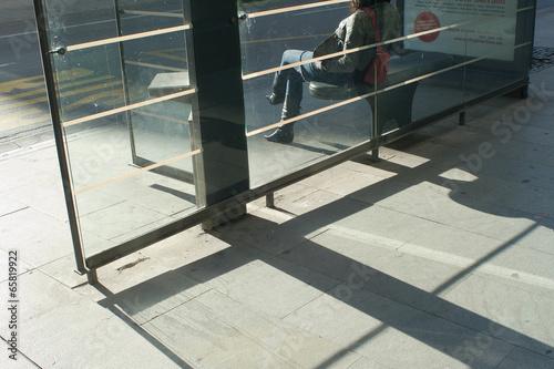 Foto op Plexiglas Trappen sombras en la acera