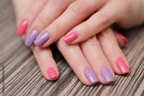 Bright color manicure Poster