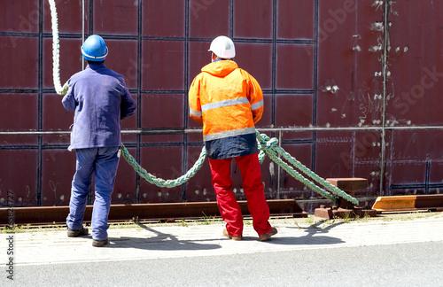 Rohbau im Hafen