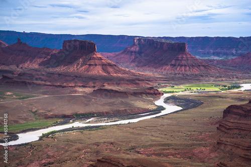 Colorado River professor valley overlook utah