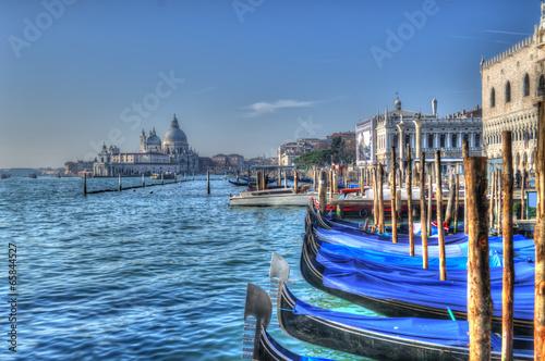 blue gondolas