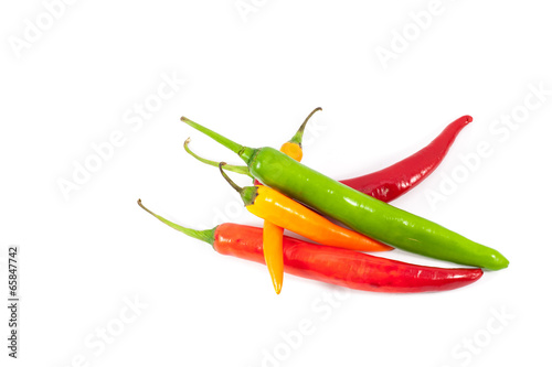 Staande foto Hot chili peppers Colorful hot chilli