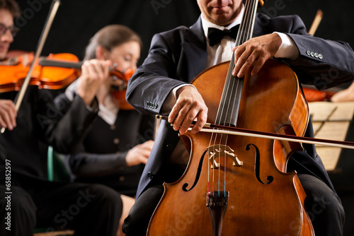 Fotografie, Obraz  Výkon smyčcový orchestr