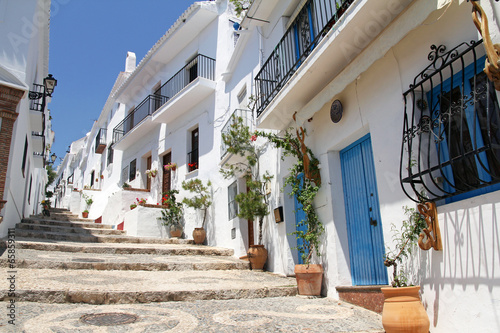 Fotografia picturesque Frigiliana- one of white towns in Andalusia, Spain
