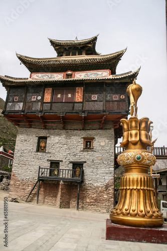 Fotografie, Obraz  the stockade in sichuan,china