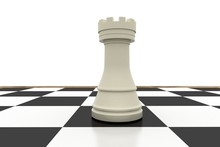 White Rook On Chess Board
