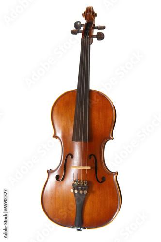 Fotografie, Obraz  Old violin on white background
