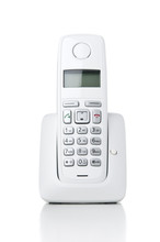 Wireless Phone On White Backgr...