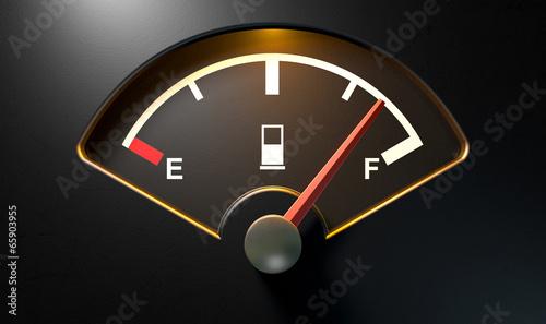 Gas Gage Illuminated Full Fototapeta