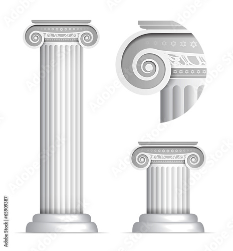 Fotografie, Obraz  Classical Greek or Roman Ionic column