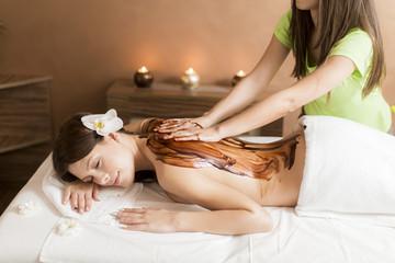 Obraz na płótnie Canvas Hot chocolate massage