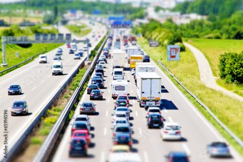 Fotografie, Obraz  Autobahn A 8 bei Möhringen, Tilt Shift Effekt
