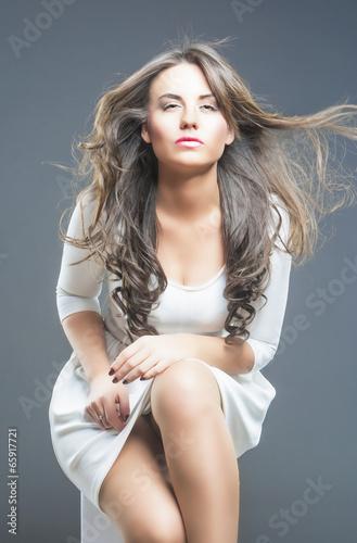 Photo  Passionate Brunette Woman
