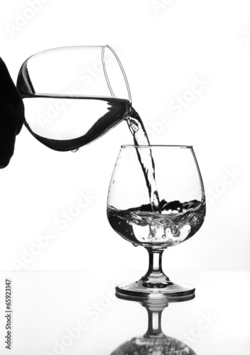 Wine Glass Water Pouring To Wine Glass Buy This Stock