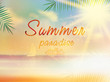 Summer background template with copyspace.