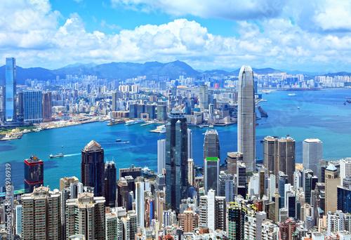 Foto auf Leinwand Hongkong Hong Kong skyline